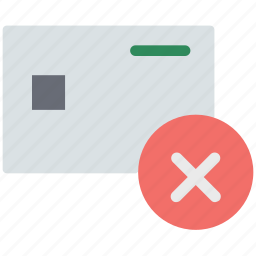 credit card error, debit card error, error, error in card, plastic card error icon