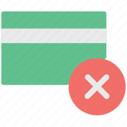 credit card error, debit card error, error, error in card icon