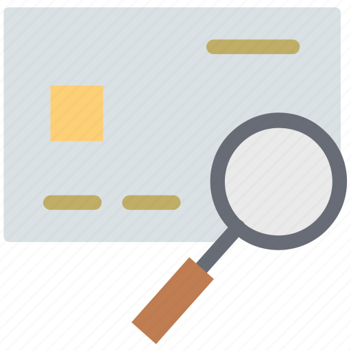 bank card with magnifying, credit card search, credit card with magnifying, debit card search, debit card with magnifying, search card icon