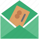 credit card in envelope, email, letter, letter envelope with card, letter pack, plastic card in envelope icon