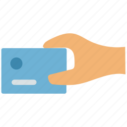 bank card, debit card, debit card in hand, payment card, plastic card icon