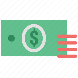 banknotes, cash, currency, currency note, dollar, financial, money, payment icon