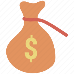 cash, cash bag, dollar, earning dollar, money, pay, payment, price, sack of money icon