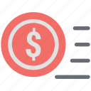 dollar circle, dollar sign, investment, money circle icon