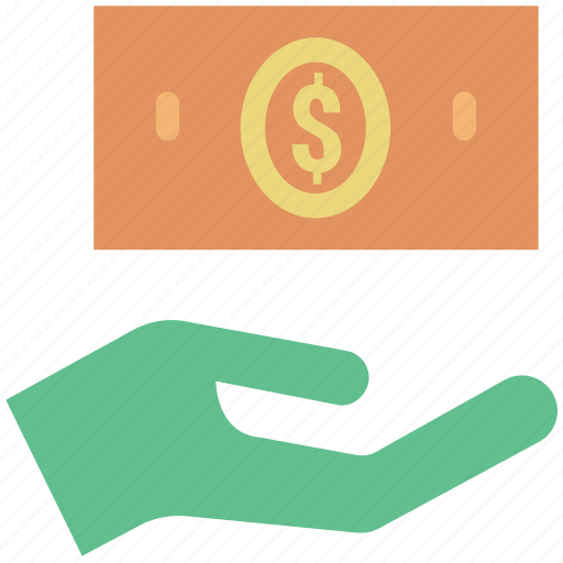 dollar, dollar on hand, donation, earn, financial, invest, pay, payment icon