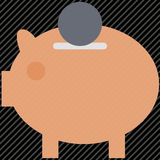 dollar, money, money box, penny bank, piggy bank icon