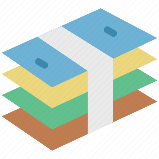 banknotes, cash, currency note, currency packet, dollar, financial, money, payment icon