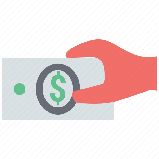 business, cash in hand, earning, financial, investment, profit icon