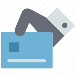 atm card, credit card in hand, debit card, debit card in hand, payment card, plastic card icon