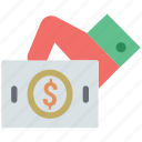 banknote in hand, currency in hand, dollar in hand, payment, payment in hand icon