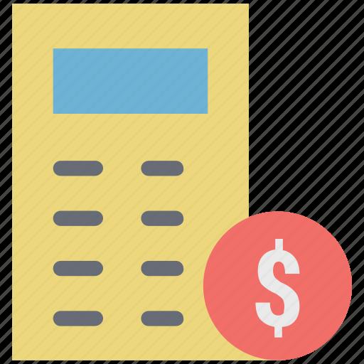 business calculation, calculation, calculator, collar calculation, dollar sign, finance calculation icon