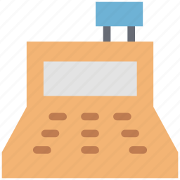 cash register finance calculation, cashier, collar calculation, register icon