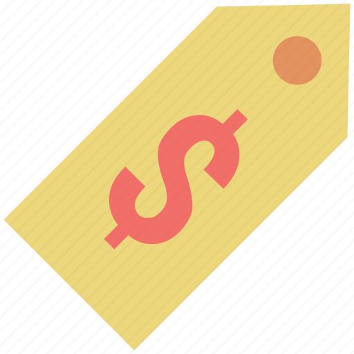 currency tag, discount coupon, discount tag, dollar label, dollar tag, price label, price tag icon
