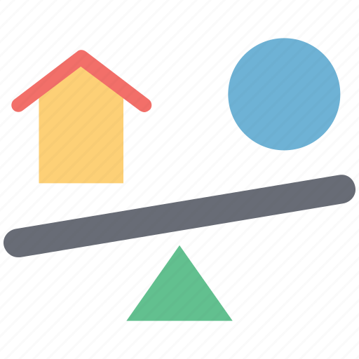 balance, compare, financial, home trading, measure, real estate, sell and buy, selling purchasing icon