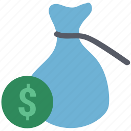 cash in sack, dollar, dollar in sack, earning, payment, sack, sack dollar icon