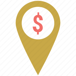 bank location, business map pin, finance area, gps, map pin, navigation icon