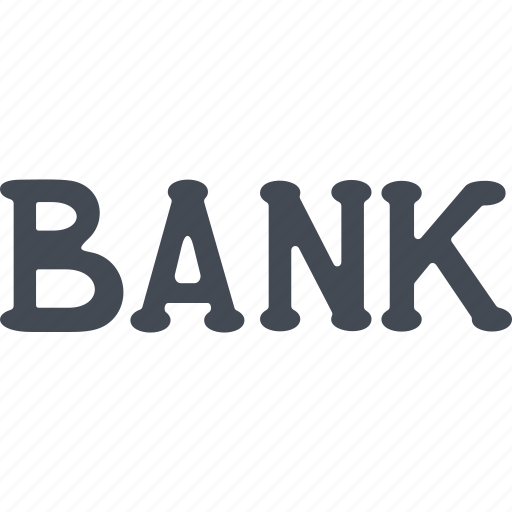 bank, credit, logo, money icon
