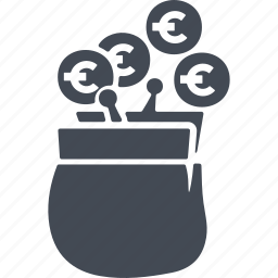 coins, credit, payment, purse icon