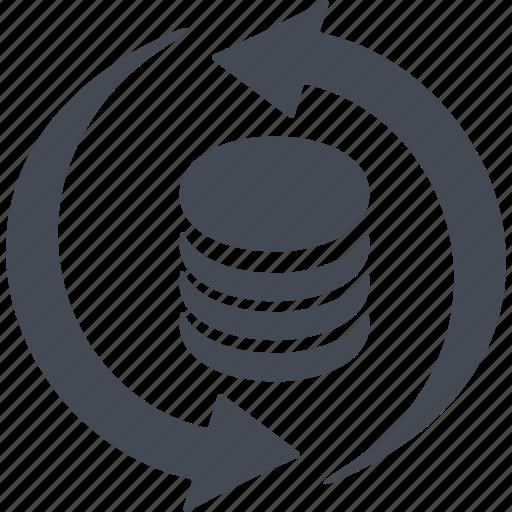 arrow, credit, money, money turnover icon