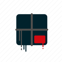 blood, box, dripping, liquid, melting, parcel, shipping icon