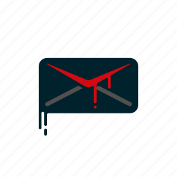 blood, dripping, envelope, letter, liquid, melting, message icon