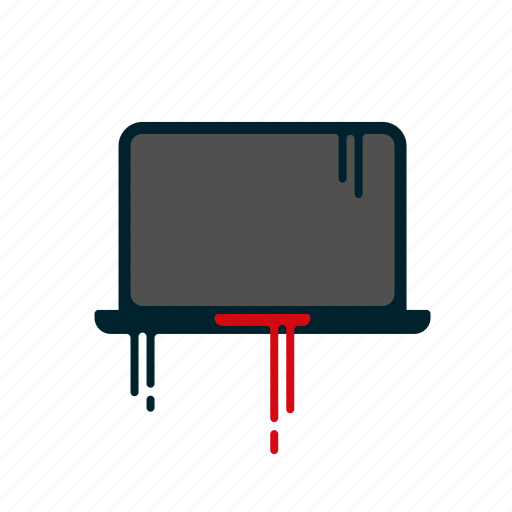 blood, computer, dripping, laptop, liquid, melting, notebook icon