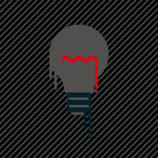 blood, creativity, dripping, ideas, light bulb, liquid, melting icon
