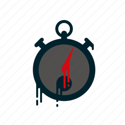 blood, dripping, liquid, melting, speed, stop watch, time icon