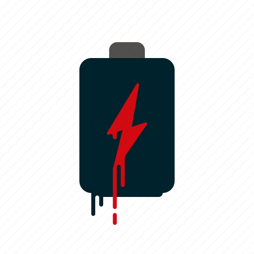battery, blood, dripping, liquid, melting, power, voltage icon