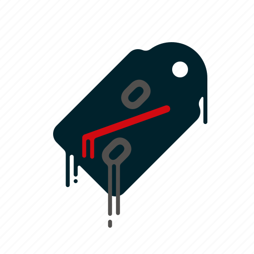 blood, dripping, liquid, melting, percent, price tag, sale icon