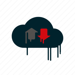 blood, cloud, download, dripping, liquid, melting, upload icon