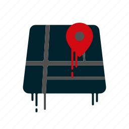 blood, dripping, liquid, location, map, melting, navigation icon