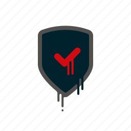 blood, dripping, liquid, melting, protection, safety, shield icon