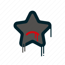 blood, dripping, liquid, melting, rating, star icon