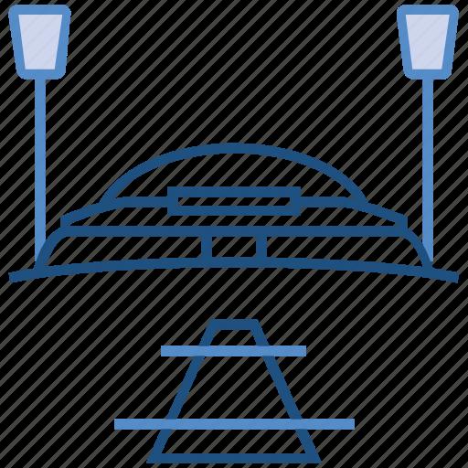 cricket, cricket stadium, ground, pitch, stadium icon