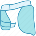 cricket, protection, sports, thigh guard, thigh pad icon