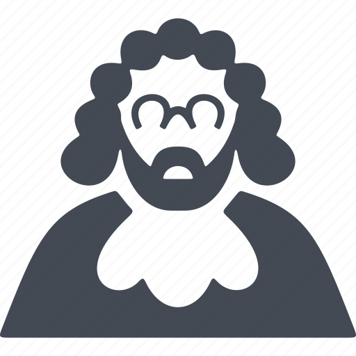 Crime, man, judge, spectacles, wig icon - Download on Iconfinder