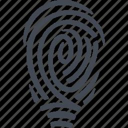 crime, evidence, fingerprint, mark, track icon
