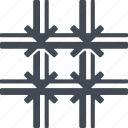 crime, insulation, lattice, security icon