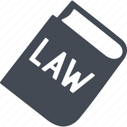 book, code of laws, crime, law icon