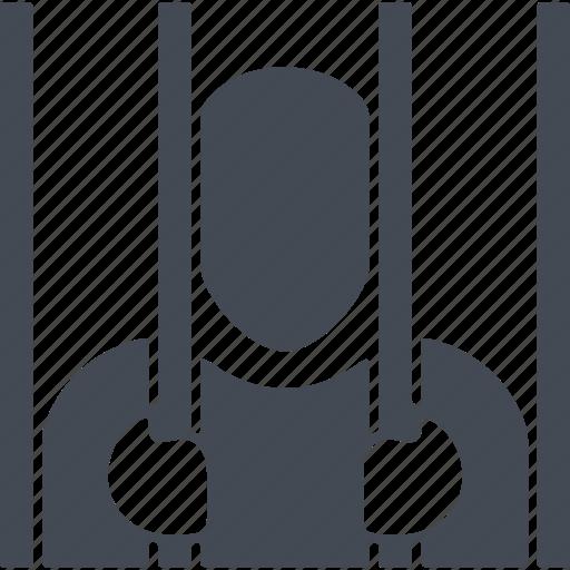 crime, criminal, lattice, prisoner, security icon