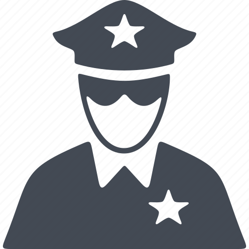 crime, human, people, police form, policeman icon