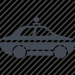 car, crime, police car, the pursuit, transport icon