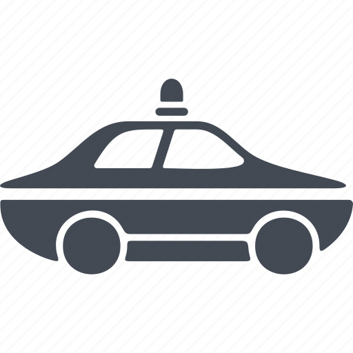 car, crime, police car, the pursuit, transport icon