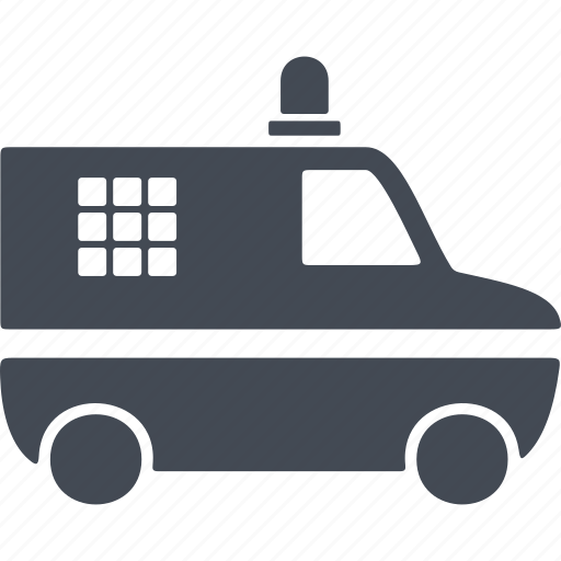 car, crime, police van, shipping, van icon