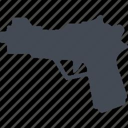 crime, firearms, pistol, weapon icon