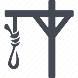 crime, gallows, law, loop, punishment icon