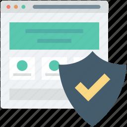 internet password, internet security, shield, web security, website icon