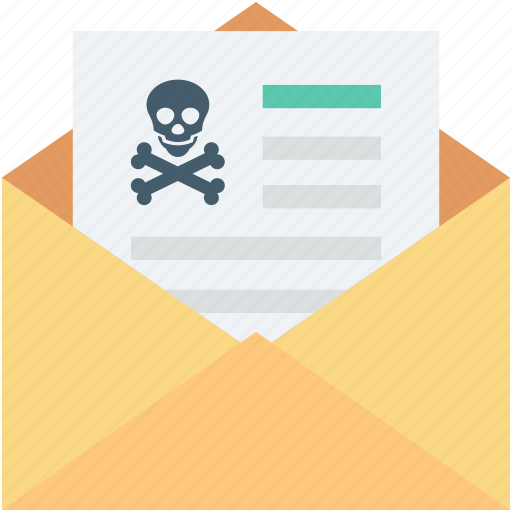 criminal record, email, junk email, message, spam email icon