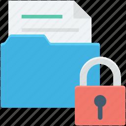 data safety, folder, folder security, locked folder, protected document icon